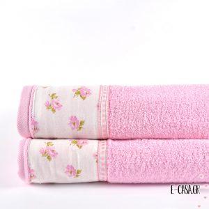 Σετ πετσέτες - Φλοράλ ροζ
