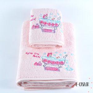 Σετ πετσέτες - Pink Bath Time