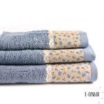 Σετ πετσέτες 3 τεμ. Chic Collection Blue Floral