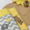 Πικέ κουβέρτα Κούνιας κίτρινη