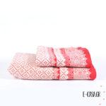 Σετ πετσέτες Nima Εμπριμέ κόκκινο