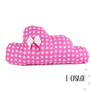 Μαξιλαράκι διακοσμητικό ροζ συννεφάκι