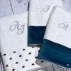 Δώρο Γάμου σετ πετσέτες 3 τμχ με μονογράμματα