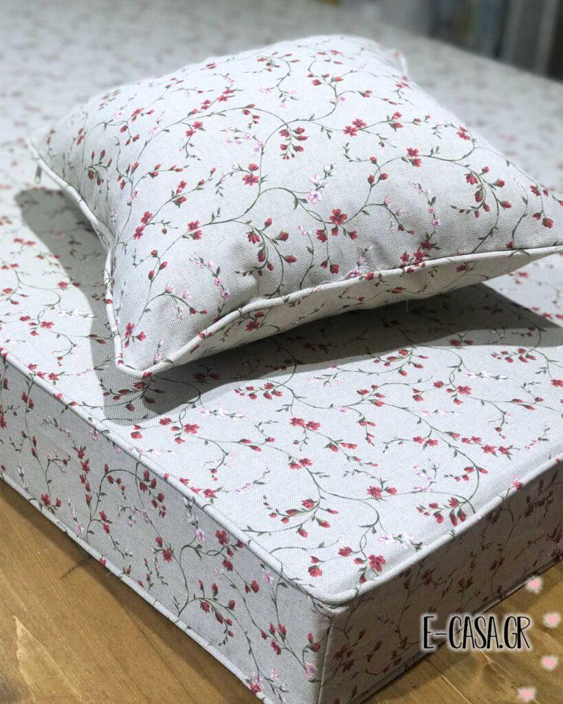 Φλοράλ μαξιλάρια πάγκου