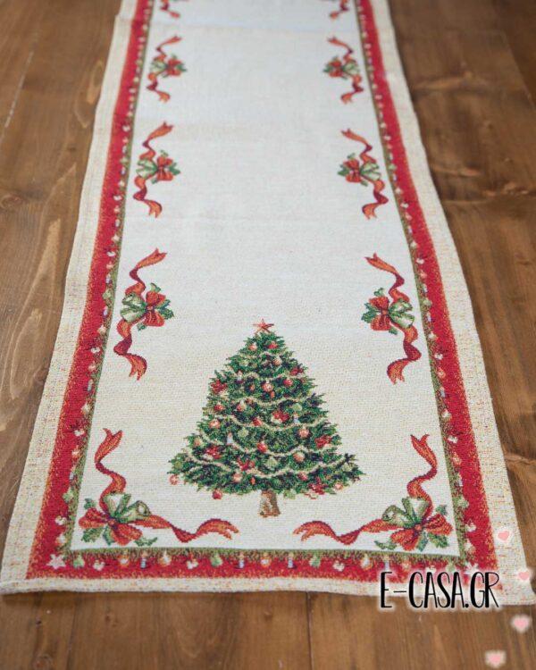 Χριστουγεννιάτικη τραβέρσα christmas tree