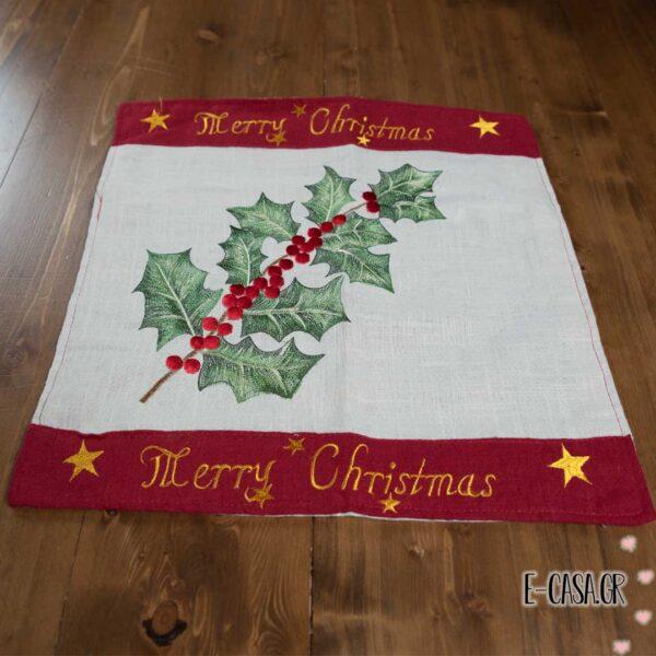 Χριστουγεννιάτικη μαξιλαροθήκη merry christmas