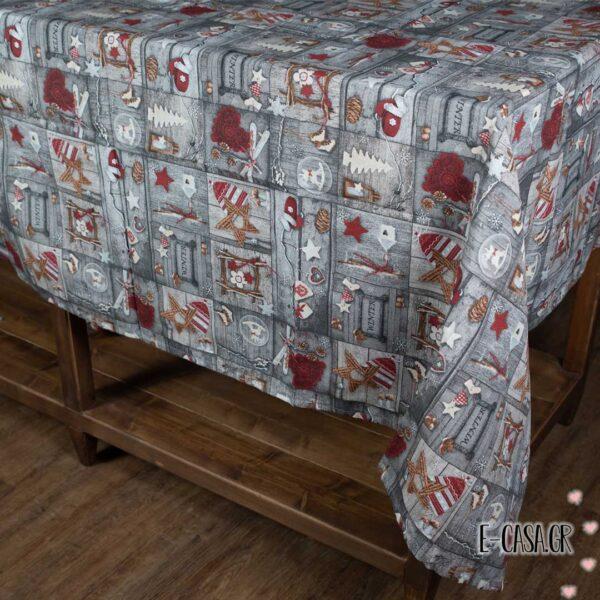 Χριστουγεννιάτικο τραπεζομάντηλο cinnamon
