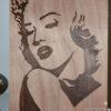 Διακοσμητικό τοίχου πυρογραφία Marilyn Monroe