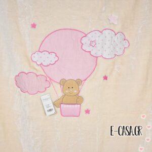 Κουβέρτα Βελουτέ Κούνιας Manterol Baby Happy Balloon