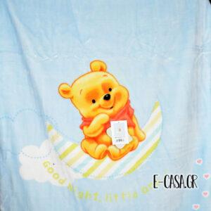 Κουβέρτα Βελουτέ Κούνιας Manterol Baby Disney Winnie