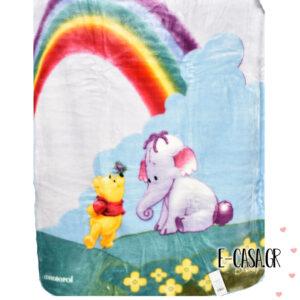 Κουβέρτα Βελουτέ Κούνιας Manterol Baby Disney Winnie rainbow