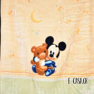 Κουβέρτα Βελουτέ Κούνιας Manterol Baby Disney mickey