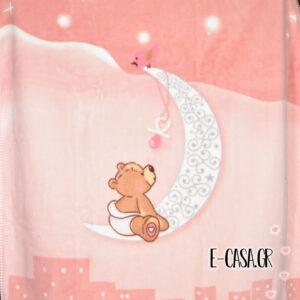 Κουβέρτα Βελουτέ Κούνιας Manterol Baby Vestan Moon