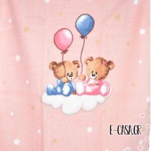 Κουβέρτα Βελουτέ Κούνιας Manterol Baby Vestan Balloon