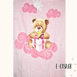 Κουβέρτα Βελουτέ Κούνιας Manterol Baby Vip Gift
