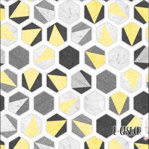 Σειρά geometric - Cube κίτρινο