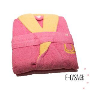 Βαμβακερό μπουρνούζι ροζ