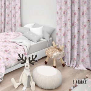 Έτοιμες κουρτίνες Σειρά romance ροζ