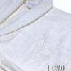 Δώρο Γάμου ιβουάρ μπουρνούζια με κεντημένα μονογράμματα