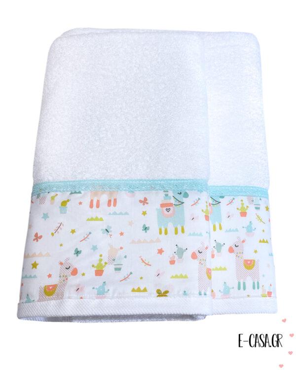 Δώρο βάπτισης πετσετούλες με λάμα