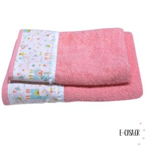 Σετ πετσέτες - Llama κοραλί