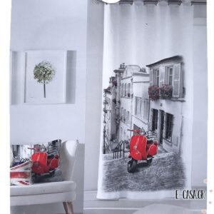 Έτοιμη Κουρτίνα Digital Print Vespa