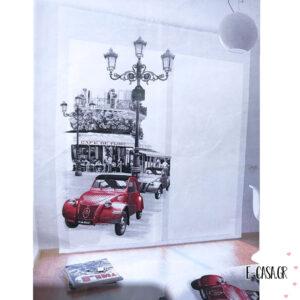Έτοιμη Κουρτίνα Digital Print Red Car