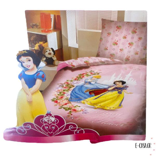 Μονή παπλωματοθήκη Disney with 2 Princess