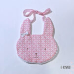 Rabbit Σαλιάρα pink bow