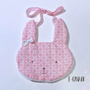 Rabbit Σαλιάρα Pink Triangles