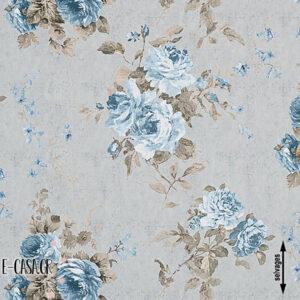 Σειρά Country Big Flower - grey - blue