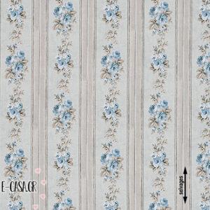 Σειρά Country Striped Floral - grey - blue