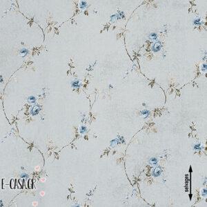 Σειρά Country Small Flower - grey - blue